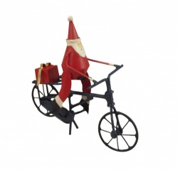 Shoeless Joe Christmas Tree Decoration Santa on Bike