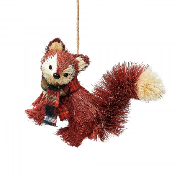 Sass & Belle Woodland Bristle Fox Christmas Decoration
