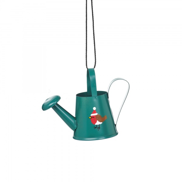 Sass & Belle Christmas Watering Can Hanging Decoration