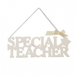 White Hanging Special Teacher Gift Plaque