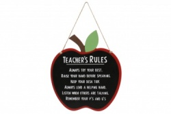 Teacher's Rules Hanging Gift Plaque