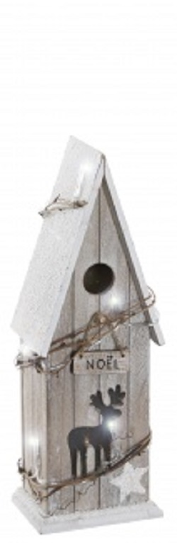 Tobs Pre-lit Noel Bird Box Home Christmas Decoration