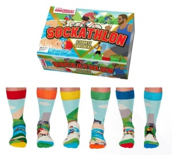 United Oddsocks Sockathlon Sporty Oddsocks - UK 6-11