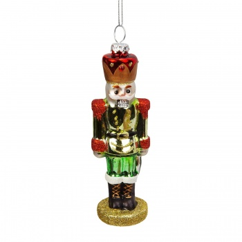 Widdop Gifts Green Suit Nutcracker Christmas Decoration