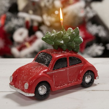 Widdop Gifts Red Christmas Car Novelty Candle
