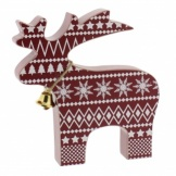 Scandi Style Reindeer Christmas Home Decoration