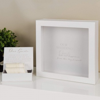 Widdop Gifts Wedding Day Guest Token Message Box