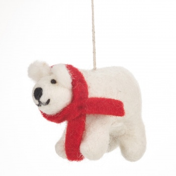 Felt So Good Winter Polar Bear Christmas Tree Decoration