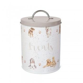 Wrendale Designs Grey Illustrated Dog Treat Tin