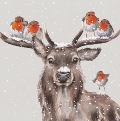 Wrendale Designs Festive Friends Boxed Stag Christmas Cards