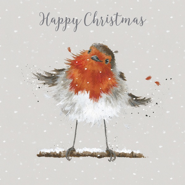 Wrendale Designs Christmas Robin Luxury Boxed Christmas Cards