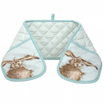 Wrendale Designs Hare Green Double Oven Glove