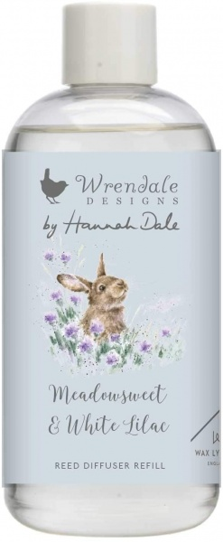 Wrendale Designs Meadowsweet and White Lilac Reed Diffuser Refill Bottle
