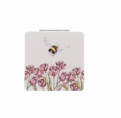 Wrendale Designs Bumble Bee Compact Mirror With Gift Box