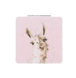 Wrendale designs Llama Compact Mirror With Gift Box