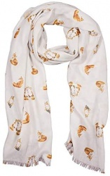 Wrendale Designs 'Born To Be Wild' Fox Scarf