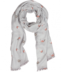 Wrendale Designs 'Jolly Robin' Design Scarf