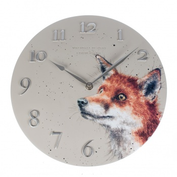 Wrendale Designs Wall Clock Fox Design