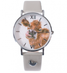 Wrendale Designs 'Moooo' Leather Watch