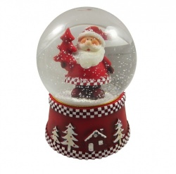 Gisela Graham Father Christmas Snowglobe Decoration