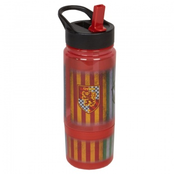 Harry Potter Themed Plastic Sippy Bottle With Screw On Snack Pot