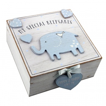 Petit Cheri Baby Boys Wooden Memory Keepsake Box