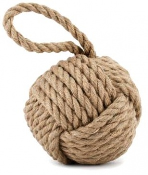 Nautical Weighted Natural Rope Ball Doorstop