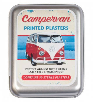 Set of 30 Classic Campervan Printed Plasters in A Tin