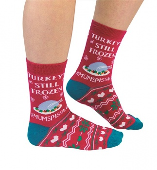 Cockney Spaniel Ladies Novelty Christmas Socks