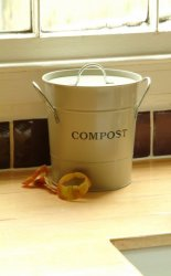 Garden Trading Clay Kitchen Lidded Compost Bucket