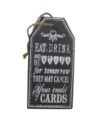 Heaven Sends Eat, Drink & Be Merry Slate Decorative Sign