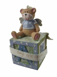 Gisela Graham Baby's 1st Christmas Tree Boys Decoration