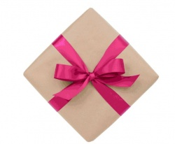Gift wrapped with personal message