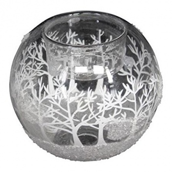 Heaven Sends Christmas Winter Scene Glass Candle Holder