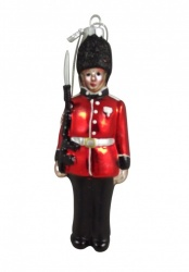 Gisela Graham Glass Soldier Christmas Tree Decoration