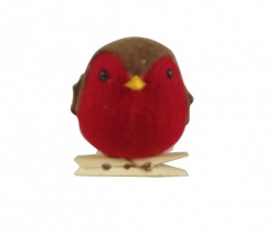Gisela Graham Cute Felt Robin Christmas Tree Decoration