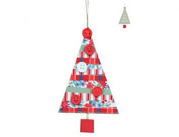 Gisela Graham We Wish You A Merry Christmas Tree Decoration