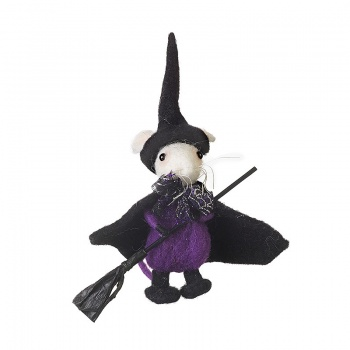 Heaven Sends Halloween Witch Mouse With Broom