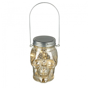 Heaven Sends Glass Halloween Light Up Skull Bottle