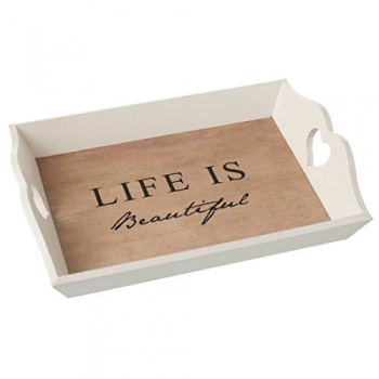 Heaven Sends Life Is Beautiful Wooden Serving Tray
