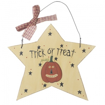 Heaven Sends Trick or Treat Hanging Star Decoration