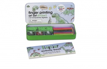 NPW Dinosaurs Finger Printing Set With Activity Book