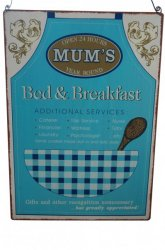 Novelty Mum's Bed and Breakfast Metal Wall Sign
