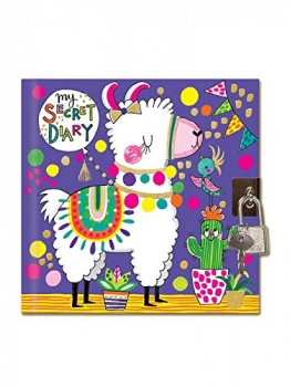 Rachel Ellen Girls Llama Design Lockable Secret Diary