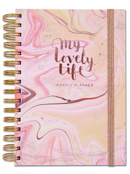 Rachel Ellen Rose Gold My Lovely Life Weekly Planner