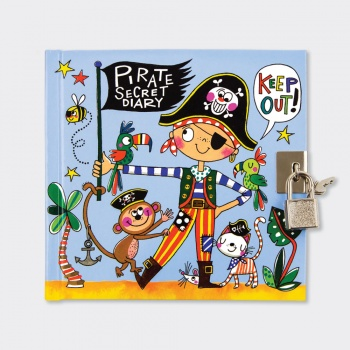 Rachel Ellen Boys Pirate Secret Lockable Diary