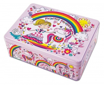 Rachel Ellen Unicorn Princess Treasure Girls Storage Tin