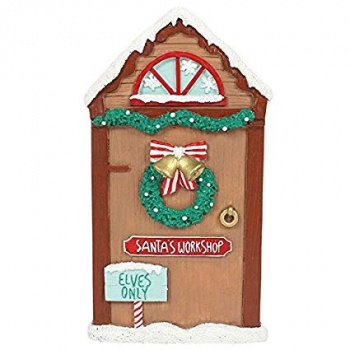 Santa's Workshop Door - Christmas Home Decoration