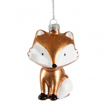 Sass and Belle Glass Fox Christmas Tree Decoration