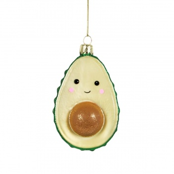 Sass and Belle Sparkly Novelty Avocado Christmas Tree Bauble